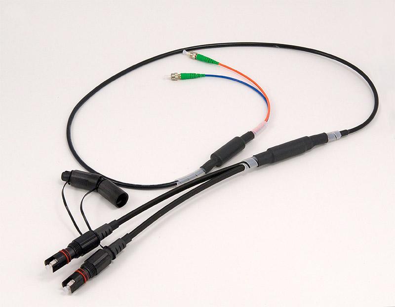 Mps 1450 Flat Drop Cables With Optitap 174 Single Fiber